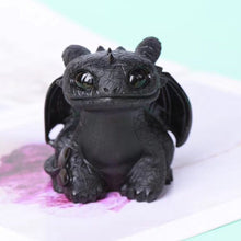 Load image into Gallery viewer, Natural Obsidian Quartz Toothless Dragon Sculpture