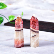 Load image into Gallery viewer, Rhodochrosite Quartz Point Healing Stone