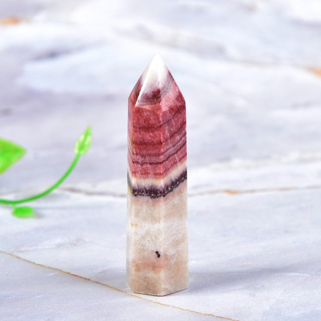 Rhodochrosite Quartz Point Healing Stone