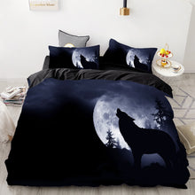 Load image into Gallery viewer, Howling Wolf Moon Bedding Set