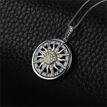 Load image into Gallery viewer, Sterling Silver Celestial Sun Pendant (no chain)