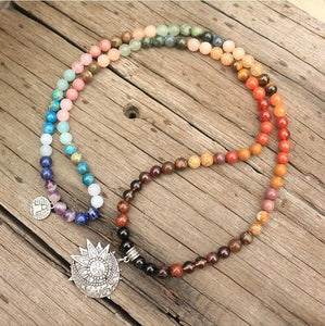 8mm 108 Natural Stone Mala Necklace
