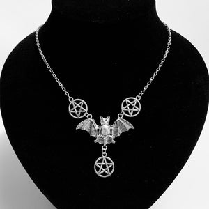 Pentagram Bat Necklace