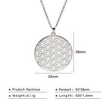 Load image into Gallery viewer, Stainless Steel Flower of Life Pendant Necklace