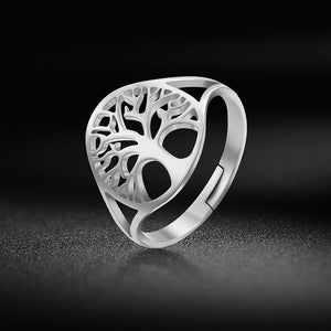 Tree of Life Adjustable Ring