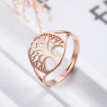 Load image into Gallery viewer, Tree of Life Adjustable Ring