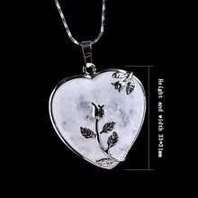 Load image into Gallery viewer, Natural Stone Heart Pendant