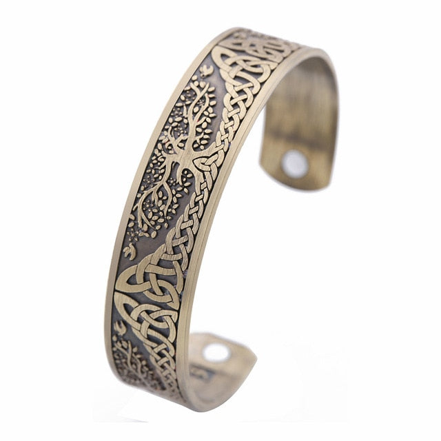 Tree of Life Magnetic Cuff Bangle Bracelet