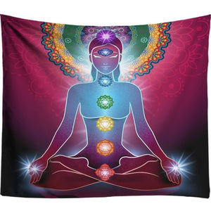 Starry Night Galaxy Chakra Wall Tapestry