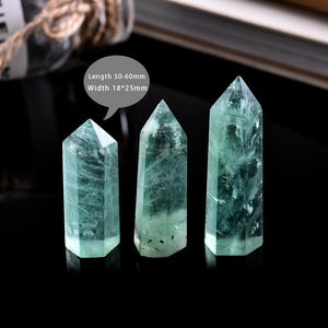 1PC Natural Green Fluorite Crystal Point