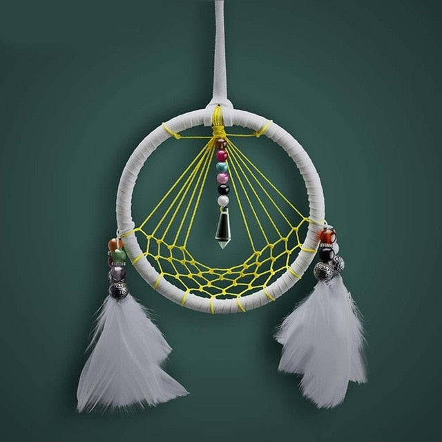 White Feathers Dream Catcher