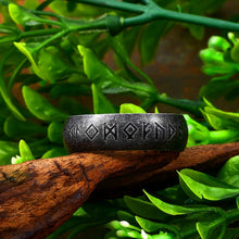 Load image into Gallery viewer, Odin Norse Viking Runes Ring