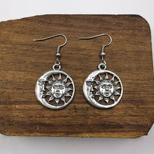 Load image into Gallery viewer, Celestial Sun and Moon Earrings