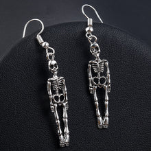 Load image into Gallery viewer, Halloween Skeleton Skull Dangle Earrings