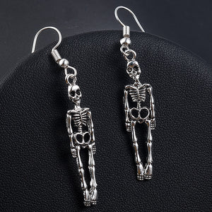 Halloween Skeleton Skull Dangle Earrings