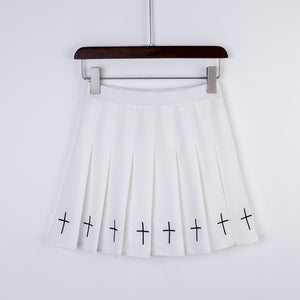 Goth Cross Mini Skirt