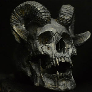 Gothic Demon Satan Goat Skull Ring