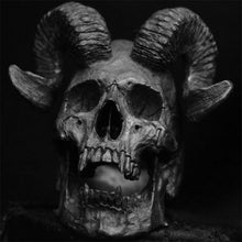 Load image into Gallery viewer, Gothic Demon Satan Goat Skull Ring