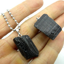 Load image into Gallery viewer, Natural Black Tourmaline Pendant Necklace