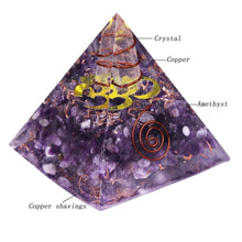 Load image into Gallery viewer, Amethyst Orgonite Pyramid