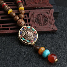 Load image into Gallery viewer, Vintage Nepal Long Wood Buddhist Mala