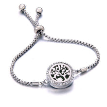 Load image into Gallery viewer, Tree of Life Oil Diffuser Locket Bracelet