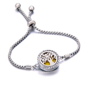 Tree of Life Oil Diffuser Locket Bracelet