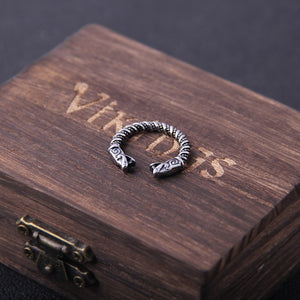 Viking Dragon Totem Odin Ring