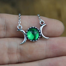 Load image into Gallery viewer, Triple Moon Goddess Necklace