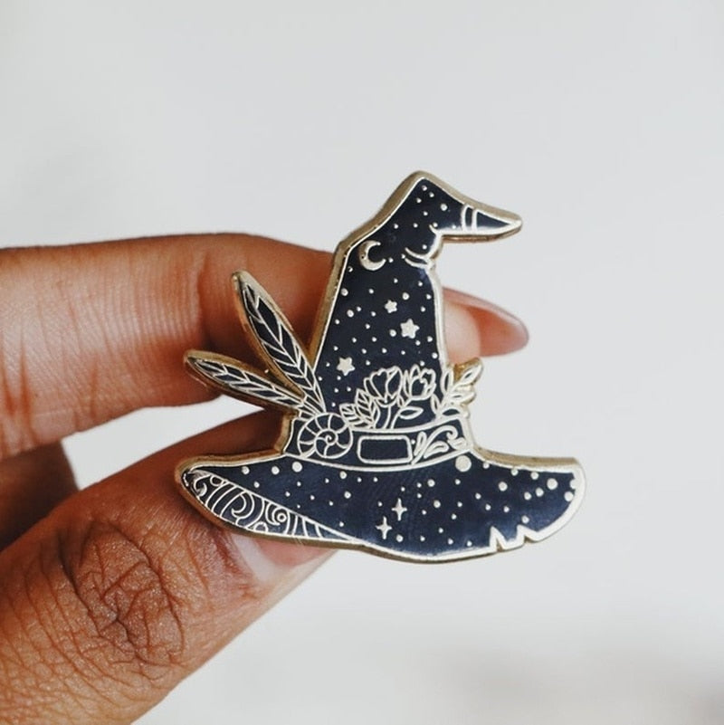 Witch Hat Enamel Pin