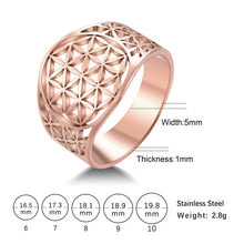 Load image into Gallery viewer, Stainless Steel Flower of Life Ring