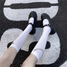 Load image into Gallery viewer, Goth Thorn Chain Tube Socks