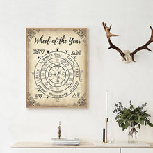 Load image into Gallery viewer, Wheel of the Year Canvas Wall Art