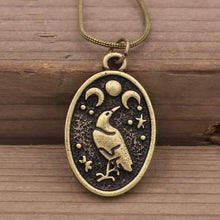 Load image into Gallery viewer, Odin Raven Amulet Pendant Necklace
