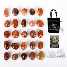 Load image into Gallery viewer, 25pcs/set Natural  Engraved Rune Stones