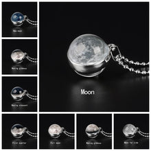 Load image into Gallery viewer, Double Sided Moon Phase Glass Necklace