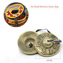 Load image into Gallery viewer, Tibetan Tingsha Cymbal Bells with Buddhist Lucky Symbols