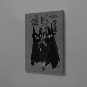 Witch Sisters Canvas Wall Art