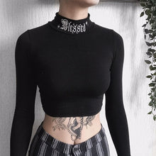 Load image into Gallery viewer, Long Sleeve Crop Top