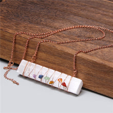 Load image into Gallery viewer, 7 Chakra Natural Selenite Necklace