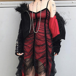 Pleated Goth Dress