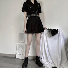 Load image into Gallery viewer, Short Black Blazer Dress