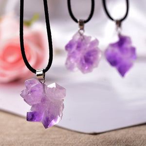 Natural Brazil Amethyst Pendant Necklace