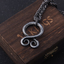 Load image into Gallery viewer, Viking Odin Rune Pendant Necklace