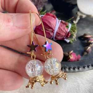 Witchy Crystal Ball Earrings