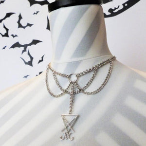 Sigil of Lucifer Chain Necklace