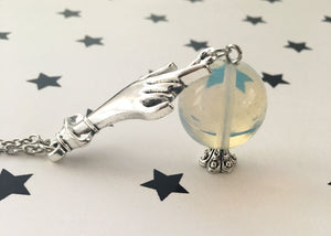 Crystal Ball Witchy Pendant Necklace