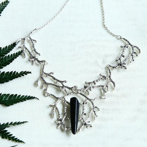 Raw Quartz Branches Witchy Necklace