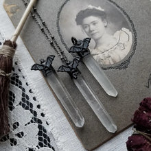 Load image into Gallery viewer, Witchy Bat Quartz Necklace
