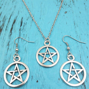 Pentagram Jewelry Set